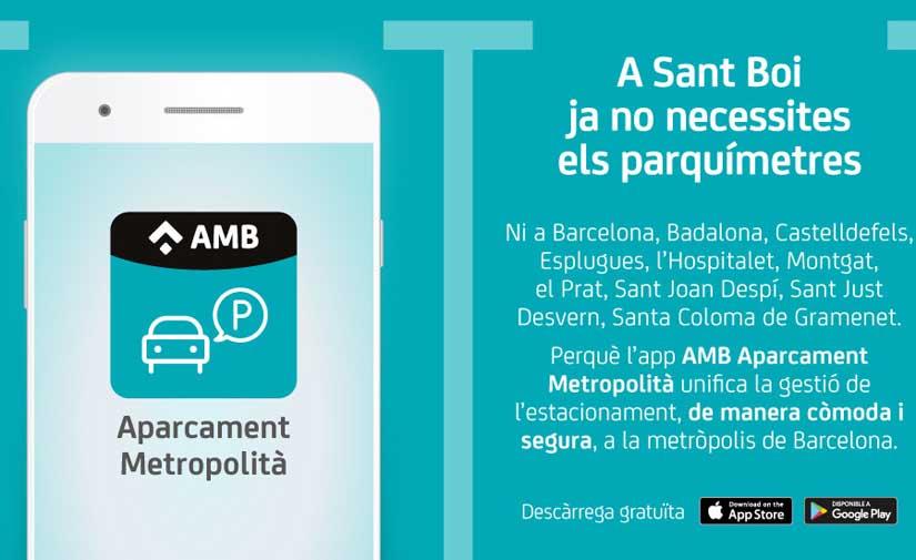 La App de Aparcamiento Metropolitano de Barcelona continúa ampliando su alcance y llega a Sant Boi de Llobregat
