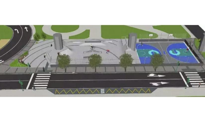 La ciudad de A Coruña contará con un skatepark y una pista polideportiva en la Plaza de José Toubes Pego