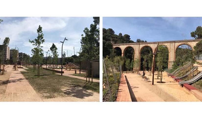 La Ciutat Meridiana de Barcelona estrena un nuevo parque con zona deportiva