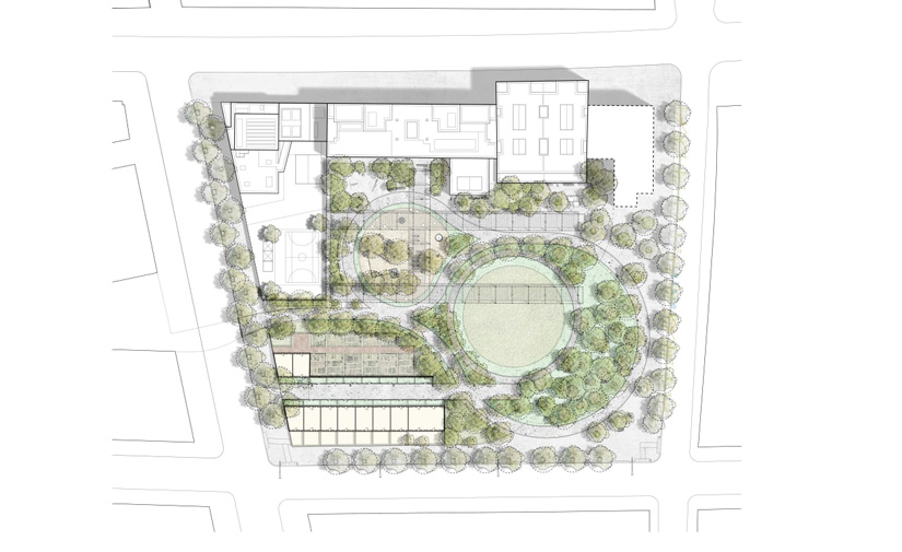 La Colonia Castells tendrá un gran parque de unos 10.000 m2 con verde y espacios de salud y recreo