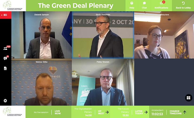 La Comisión Europea apoya el Mensaje de Mannheim y todas las partes acuerdan cooperar para hacer realidad el Pacto Verde Europeo