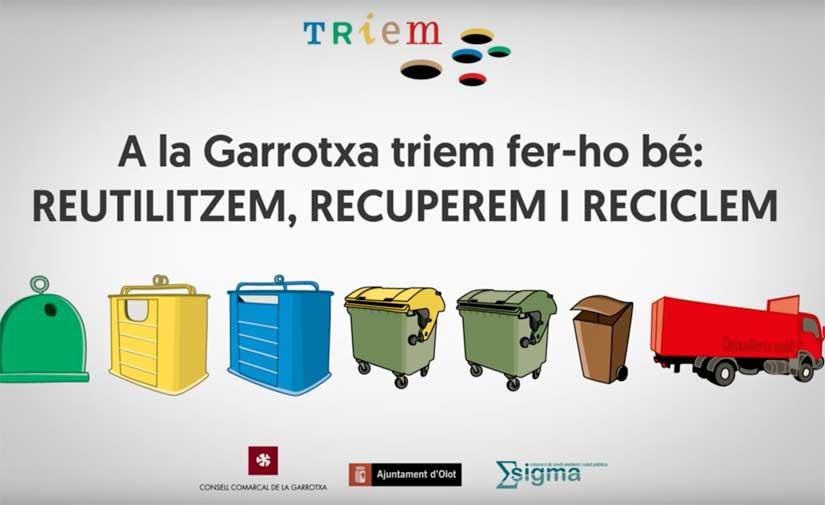 La Garrotxa sigue siendo líder en recogida selectiva en las comarcas de Girona y mejora cinco puntos en el último año