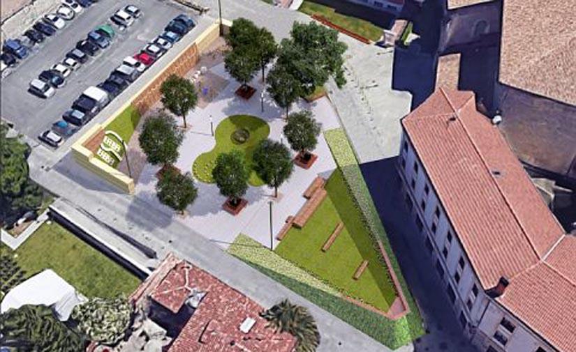 La plaza Etxauri se transformará en una zona de juegos moderna, naturalizada e innovadora en pleno Casco Medieval de Vitoria