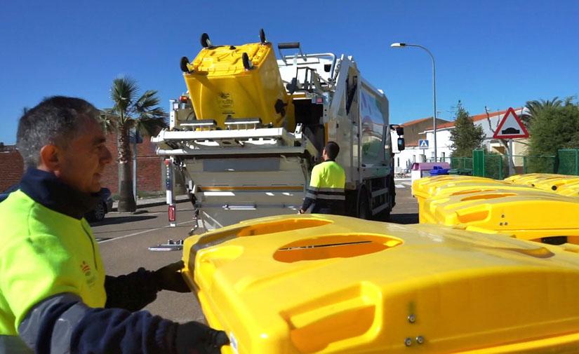 La provincia de Badajoz recicla mejor: un 8% más de acierto en el contenedor amarillo en 2019