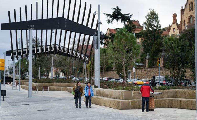 La ronda de Dalt estrena un nuevo paseo peatonal