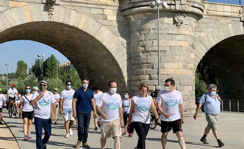 La senda Madrid Río-parque lineal del Manzanares conecta diez distritos a pie o en bici