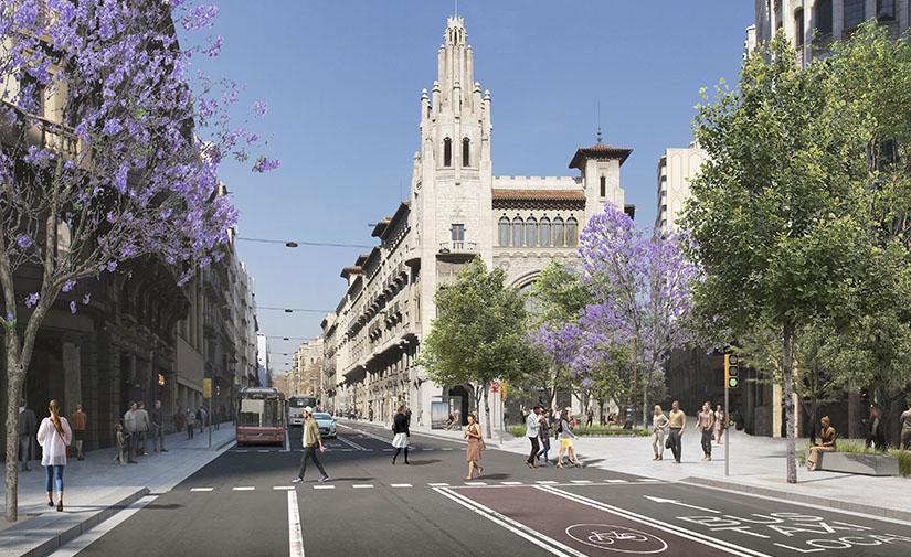 La transformación de la Via Laietana ya tiene propuesta y calendario definidos