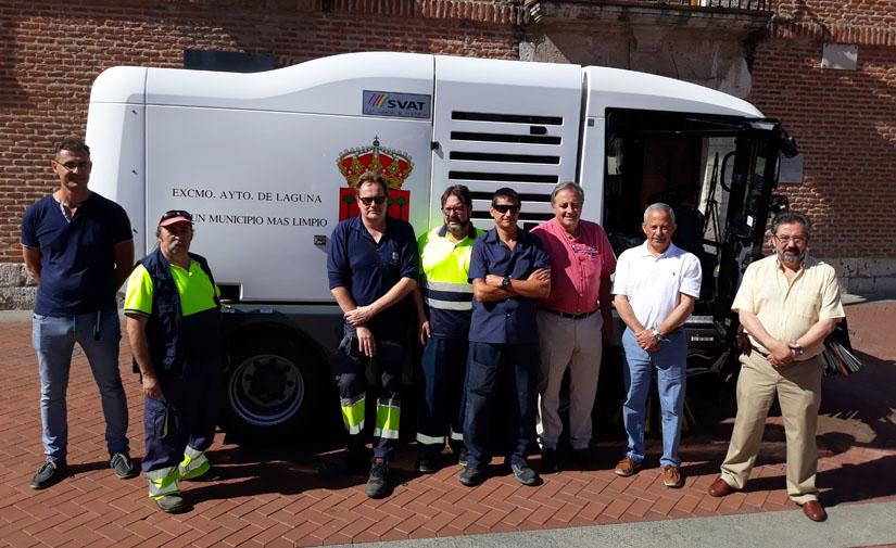 Laguna de Duero incorpora una nueva barredora al servicio de limpieza viaria