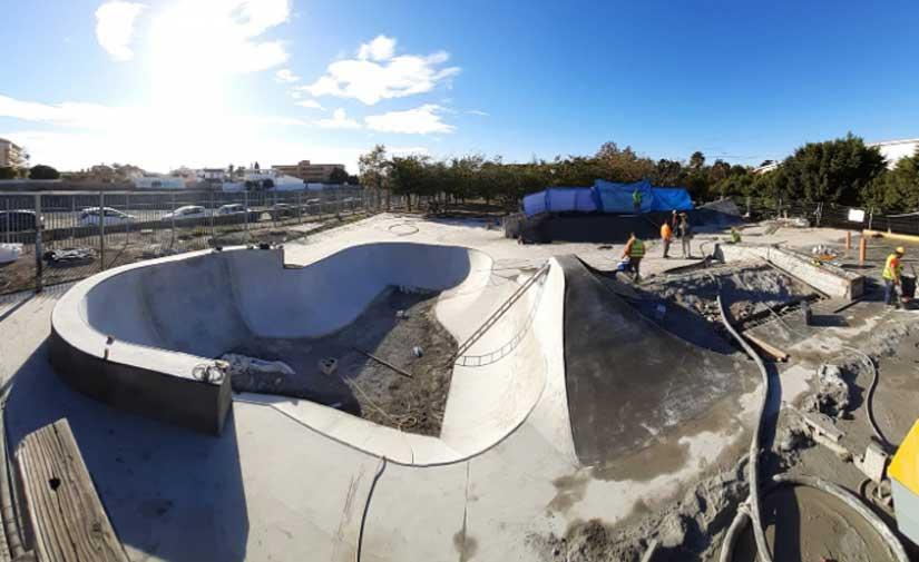 Las obras del nuevo Skatepark de Rincón de la Victoria alcanzan el ecuador