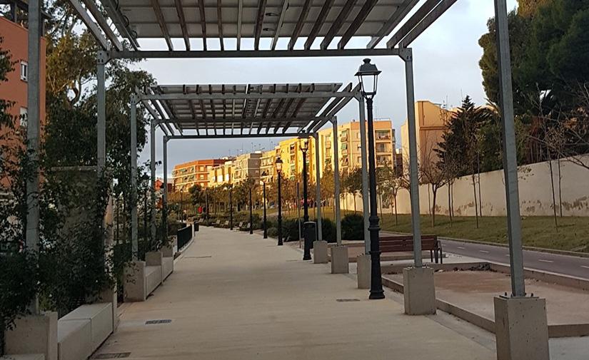 Las instalaciones fotovoltaicas del Parque Lineal de Benimàmet logran ahorros de hasta un 75% del consumo de energía