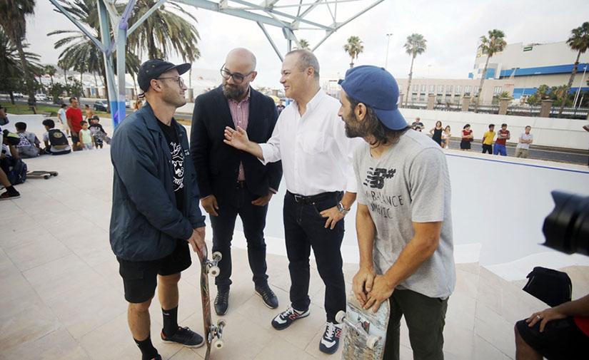 Las Palmas de Gran Canaria culmina las obras de construcción del nuevo 'skatepark' de El Refugio