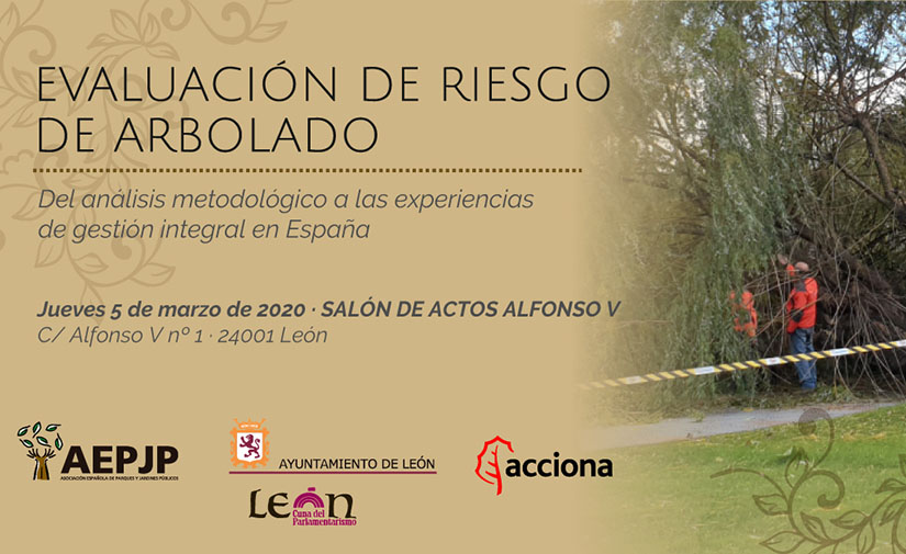 León acogerá en marzo una jornada sobre evaluación de riesgo de arbolado en espacios verdes