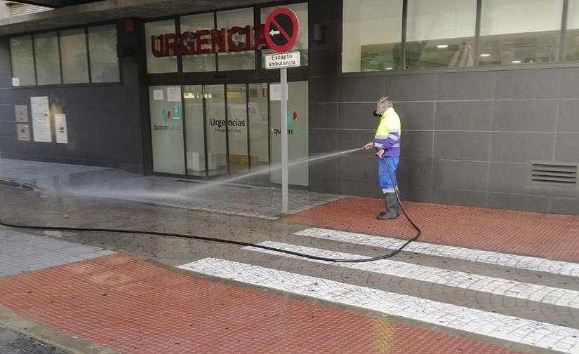Limasa desinfecta cerca de 110.000 puntos de la ciudad de Málaga