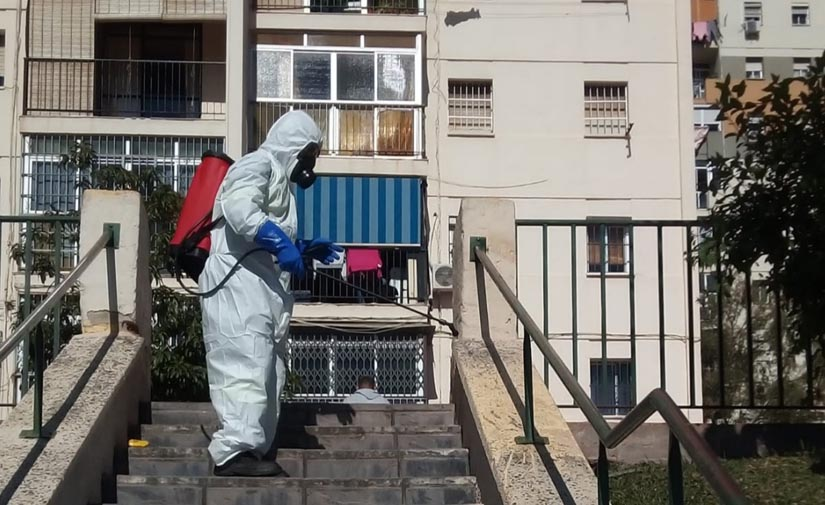 Limasa ha desinfectado cerca de 3 millones de metros cuadrados en Málaga