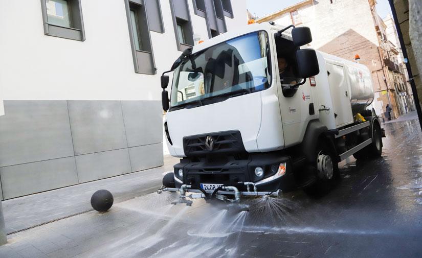 Limpieza viaria sostenible en la ciudad de Tortosa, con la ayuda de la tecnología de Rigual