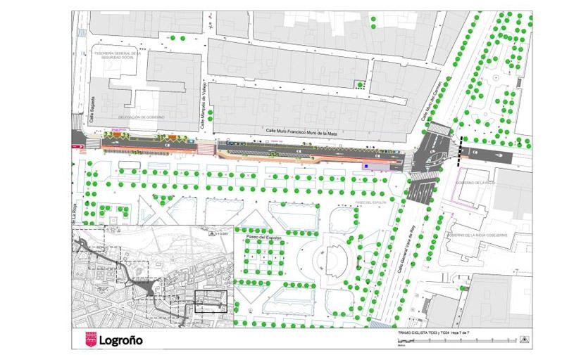 Logroño presenta el segundo tramo del eje ciclista este-oeste