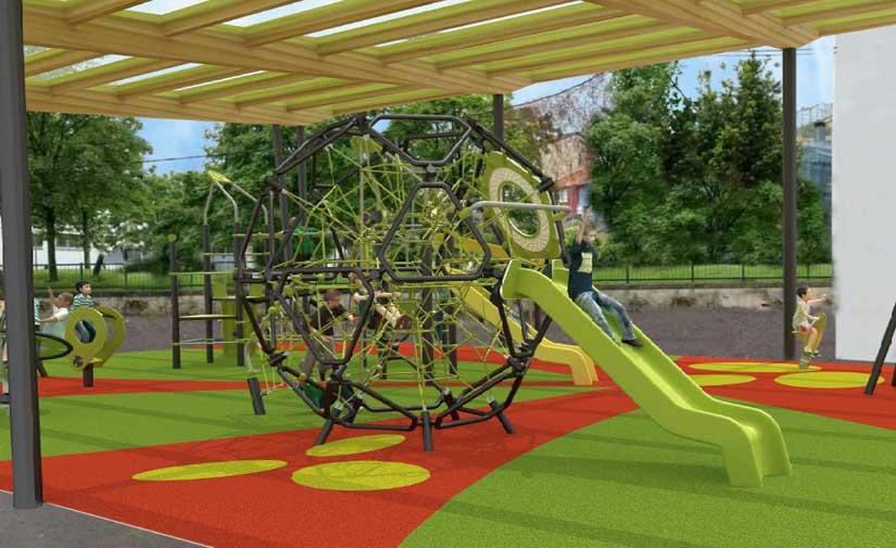 Los juegos de la Plaza Eugenio Olabarrieta de Bilbao tendrán una nueva cubierta