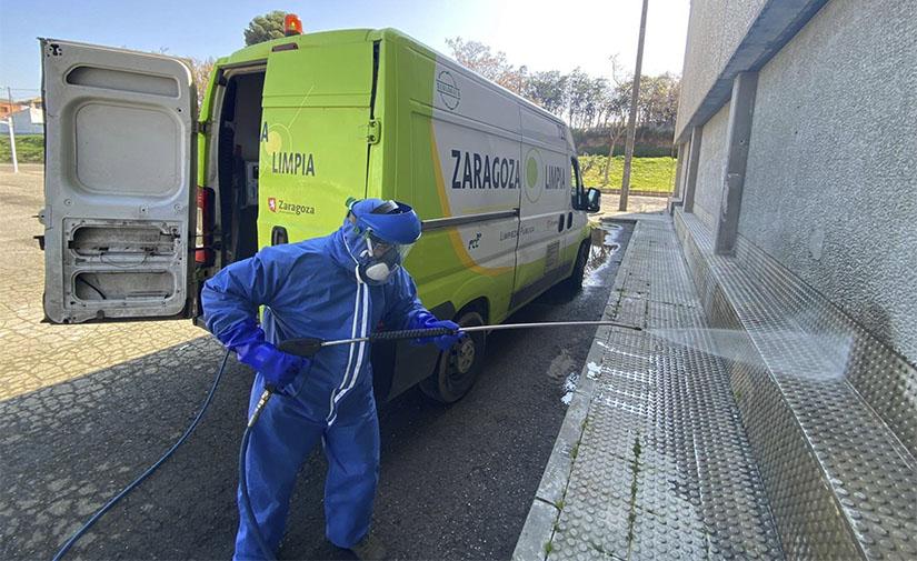Los servicios municipales de Limpieza Pública de Zaragoza intensifican los trabajos de desinfección