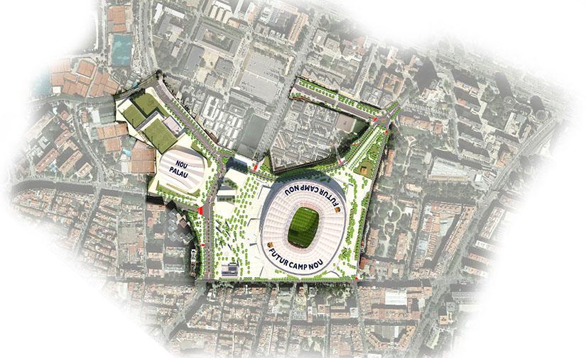 Luz verde al proyecto de reparcelación del Entorno del Camp Nou