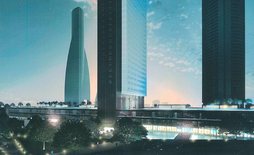 Luz verde al proyecto de zona verde que dará acceso a la quinta torre del Paseo de la Castellana
