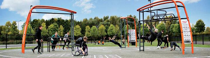 Ejercicio para todos con los gimnasios al aire libre de Kompan