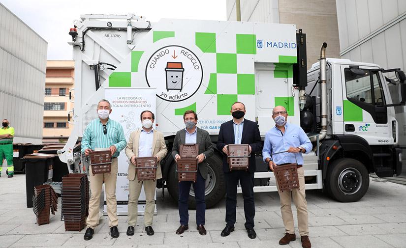 Madrid completa con el distrito Centro la implantación de la recogida de residuos orgánicos