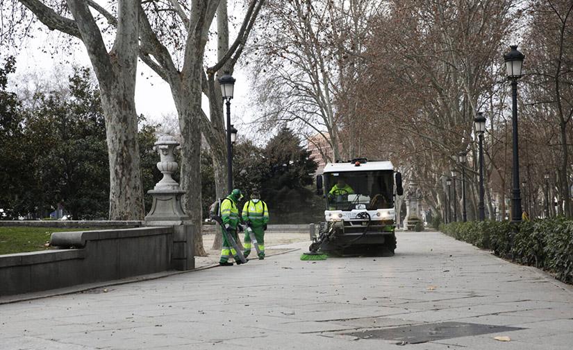 Madrid impulsa la mejora de los servicios de limpieza y zonas verdes en sus presupuestos de 2021