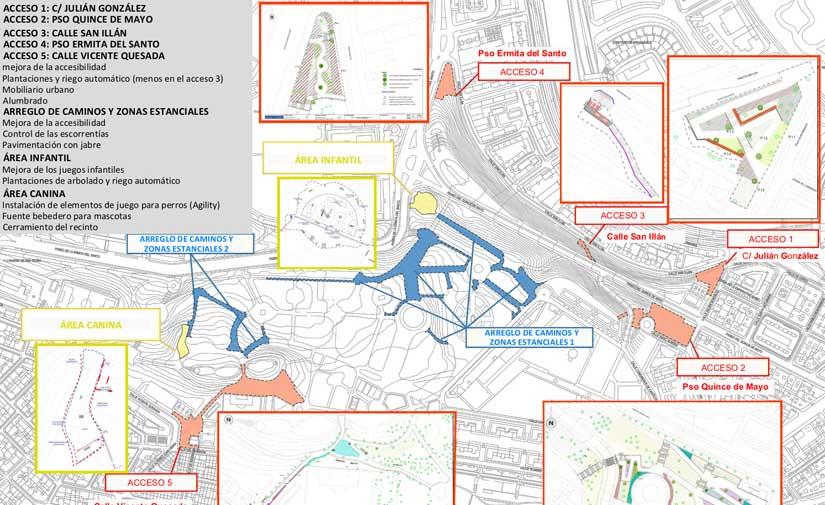 Madrid reformará el parque de San Isidro con una inversión de 3,2 millones de euros