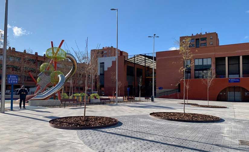 Madrid renueva la plaza del Padre Llanos para convertirla en accesible y verde