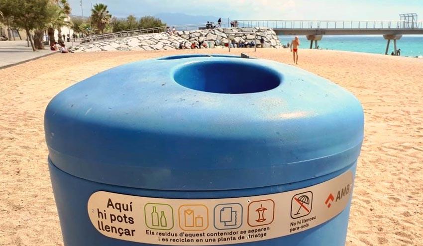 Mejoras en los contenedores de gran capacidad de las playas y parques de Barcelona