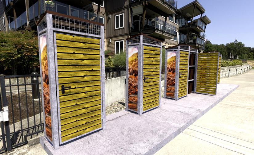 Mobiliario urbano para recogida de residuos puerta a puerta