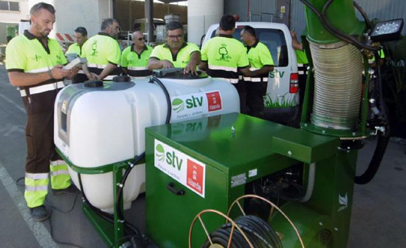 Murcia mejora el cuidado y seguridad del arbolado con tecnología de atomización