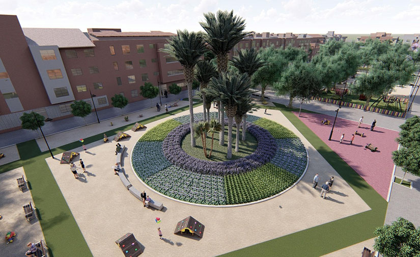 Murcia mejora los espacios verdes de Puente Tocinos con la remodelación de dos de sus jardines más emblemáticos
