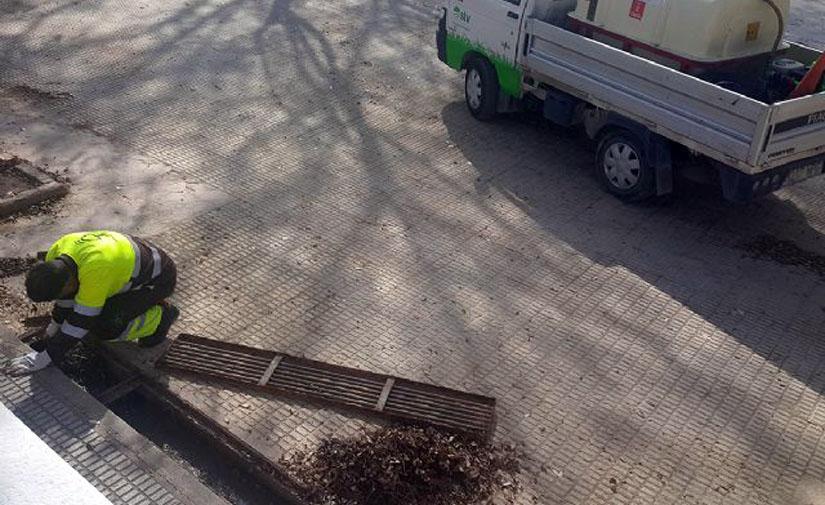 Murcia revisa periódicamente más de 3.000 imbornales situados en los parques y jardines del municipio