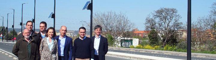 Logroño estrena un sistema de luminarias LED alimentadas con energía solar
