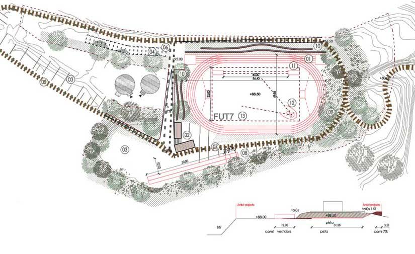 Nueva pista de atletismo para Arenys de Mar, en proyecto