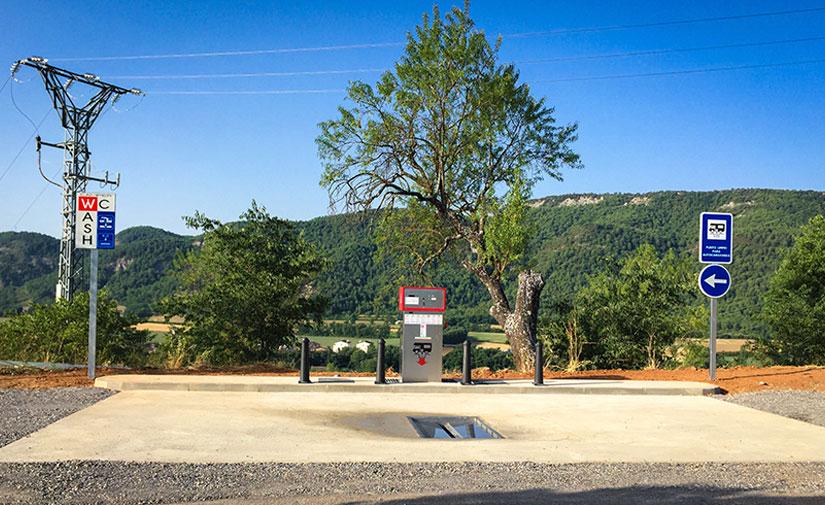 Nuevas áreas de autocaravanas en Aínsa, Martinet y Sidamon