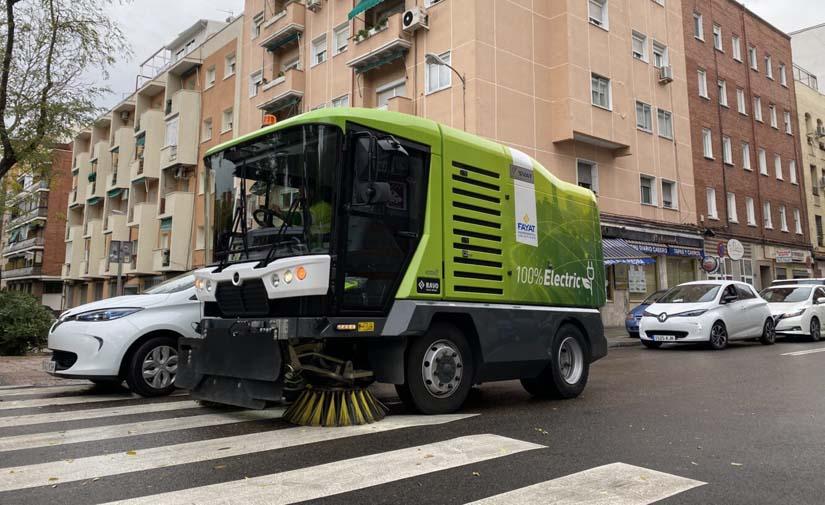 Nuevas barredoras eléctricas cero emisiones en Madrid