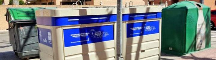 San Martín de la Vega estrena 15 nuevos contenedores de papel y cartón