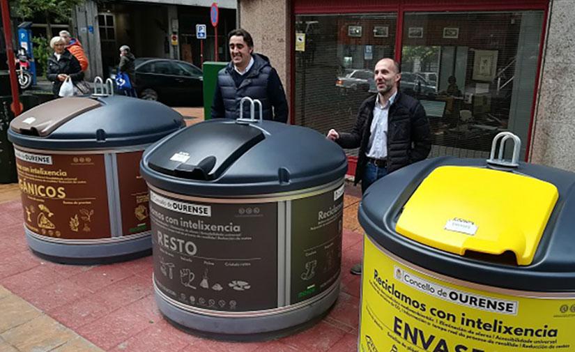 Ourense ya cuenta con la primera isla con cinco fracciones de contedores semisoterrados