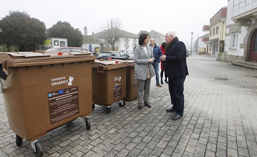 Outeiro de Rei lidera la implantación del quinto contenedor en Galicia