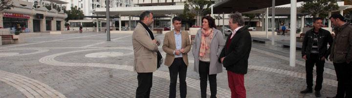 Marbella finaliza la remodelación integral de la plaza Antonio Banderas de Puerto Banús