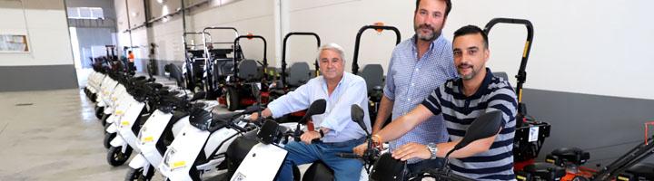 Jerez cuenta con 16 ciclomotores eléctricos para mejorar el servicio de parques y jardines