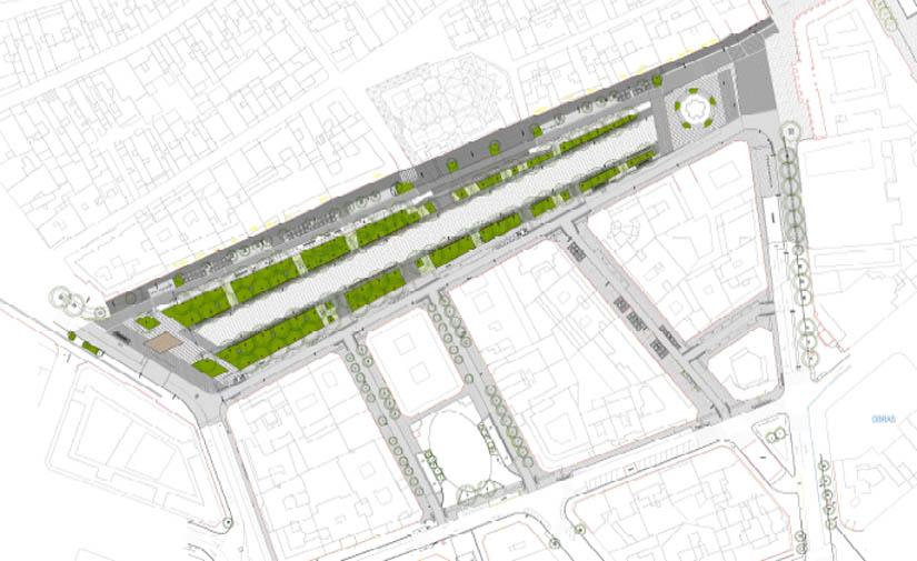 Pamplona trabaja en un proyecto de reurbanización del paseo de Sarasate