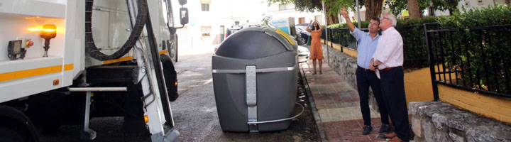 San Pedro Alcántara incorpora 395 contenedores de carga lateral que triplican capacidad