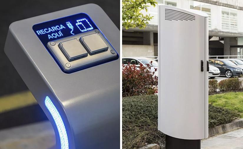 Pontevedra instala sus primeros puntos de recarga para dispositivos móviles en espacios públicos exteriores