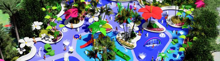 Inmersión en un espacio acuático intergeneracional y moderno con Amusement Logic