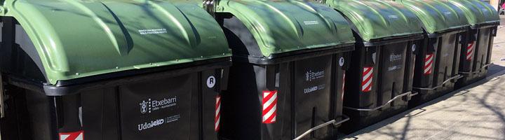 Comienza la sustitución de contenedores de carga lateral en el municipio de Etxebarri