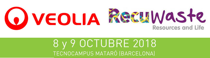 Veolia, patrocinador Platino de la quinta edición del congreso Recuwaste de reciclaje y sostenibilidad