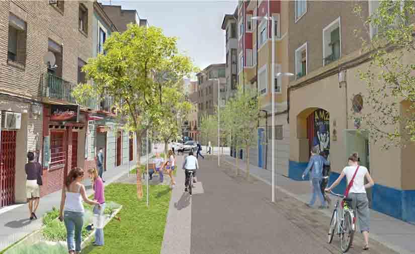 Sale a licitación la reforma integral de la calle Santiago Lapuente en Zaragoza
